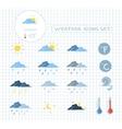 Weather forecast icons set vector image