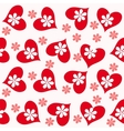 valentine seamless hearts pattern vector image vector image