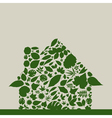 Leaf the house vector image