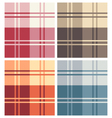 Set of Multicolor Types of Square Pattern Fabrics vector image vector image