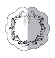 sticker monochrome with half shadow and crown of vector image