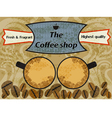 Vintage coffee shop vector image