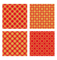 Red and golden pattern vector image vector image
