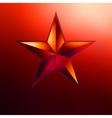 a Red star on gold EPS 8 vector image vector image
