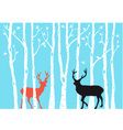 Reindeer Christmas card vector image