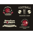 American football championship team training camp vector image