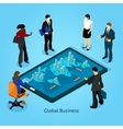 Business People Isometric Composition Icons Set vector image