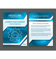 Abstract technology brochure template modern vector image