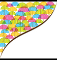colorful monsoon banner design by umbrella vector image