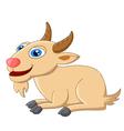 Cute goat cartoon posing vector image