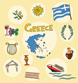 set of national profile of the greece vector image