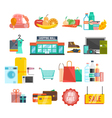 Shopping center icons vector image