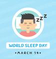 sleep day vector image