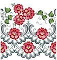 vector floral pattern vector image