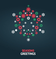 Christmas card graphic vector image