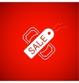 Sale symbol tag and dollar icon vector image