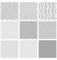 Zigzag seamless pattern set zig zag black simple vector image vector image