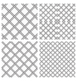 Set of Metal Grids as Seamless Background vector image vector image