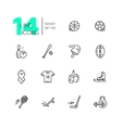 Kinds of Sport - line icons set vector image vector image