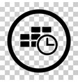 time table rounded icon vector image