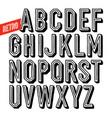 handmade retro font black letters on white vector image
