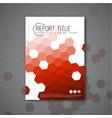 modern abstract brochure design template vector image