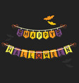 happy halloween buntings and banners decoration vector image