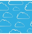 White clouds on blue seamless pattern vector image