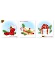 Traditional Christmas symbols vector image vector image