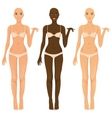 female body vector image