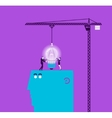 concept of light bulb and gift vector image
