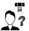 Search and find an employment vector image