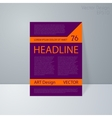 a magazine cover vector image