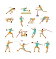 set of people in sport poses Track and vector image