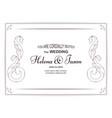 elegant white vintage invitation card for the vector image