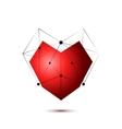 Heart shape symbol isolated on white background vector image