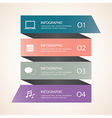 Infographic template Modern Design vector image