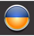 Round flag of Ukraine vector image