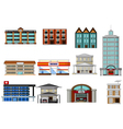 various buildings cartoon for you design vector image