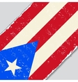 Puerto Rican grunge flag vector image