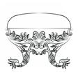 Rich Baroque Rococo chair vector image