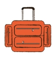 suitcase travel equipment color sketch vector image