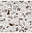 coffee and sweets - seamless pattern vector image vector image