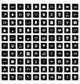 100 knowledge icons set grunge style vector image
