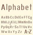 Stylish hand-drawn latin alphabet vector image