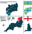 Gloucestershire South West England vector image vector image