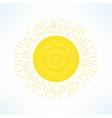 bright sun in modern flat design Hot solar vector image