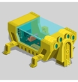 Underwater bunker with a living room and furniture vector image