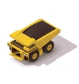 isometric haul truck vector image