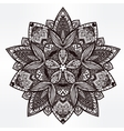 Paisley floral lotus mandala vector image